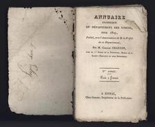 █ Charles CHARTON Annuaire statistique du Département des VOSGES pour 1829 █
