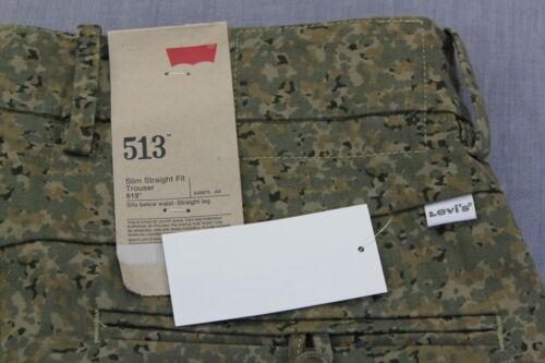 32 30 Levis Camouflage Rechte Slanke MannenNwt X Camo 513 Broek voor Militaire 31FJlcTK