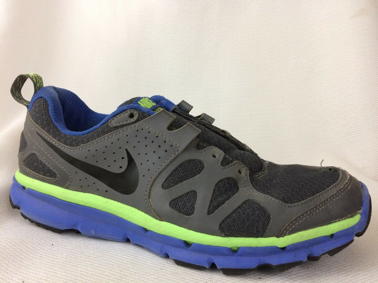 Nike 7.5 Flex Trail 538548-003 Grey Black Green Blue Mens 7.5 Nike M Sneaker Running Shoe 0eebad