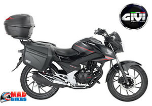 Details About Honda Cb125f 2015 2016 Givi Full Luggage Kit Top Box Panniers All Racking
