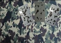 Camo Flecktarn Large 3pc Kit (3) 20x12 Inchstencils. Camouflage, Camo, Duckboat
