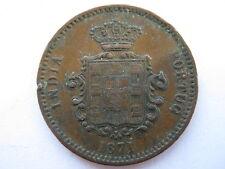 Portuguese India 1871 copper 1/4 Tanga.