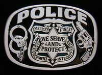 Police Belt Buckle Buckles We Serve And Protect