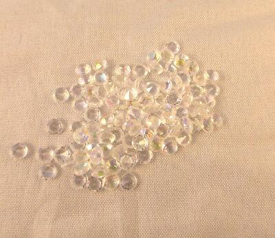 100 DIAMANTEN Streudeko  Tischdeko  crystal-shiny  4,5 mm Basteln