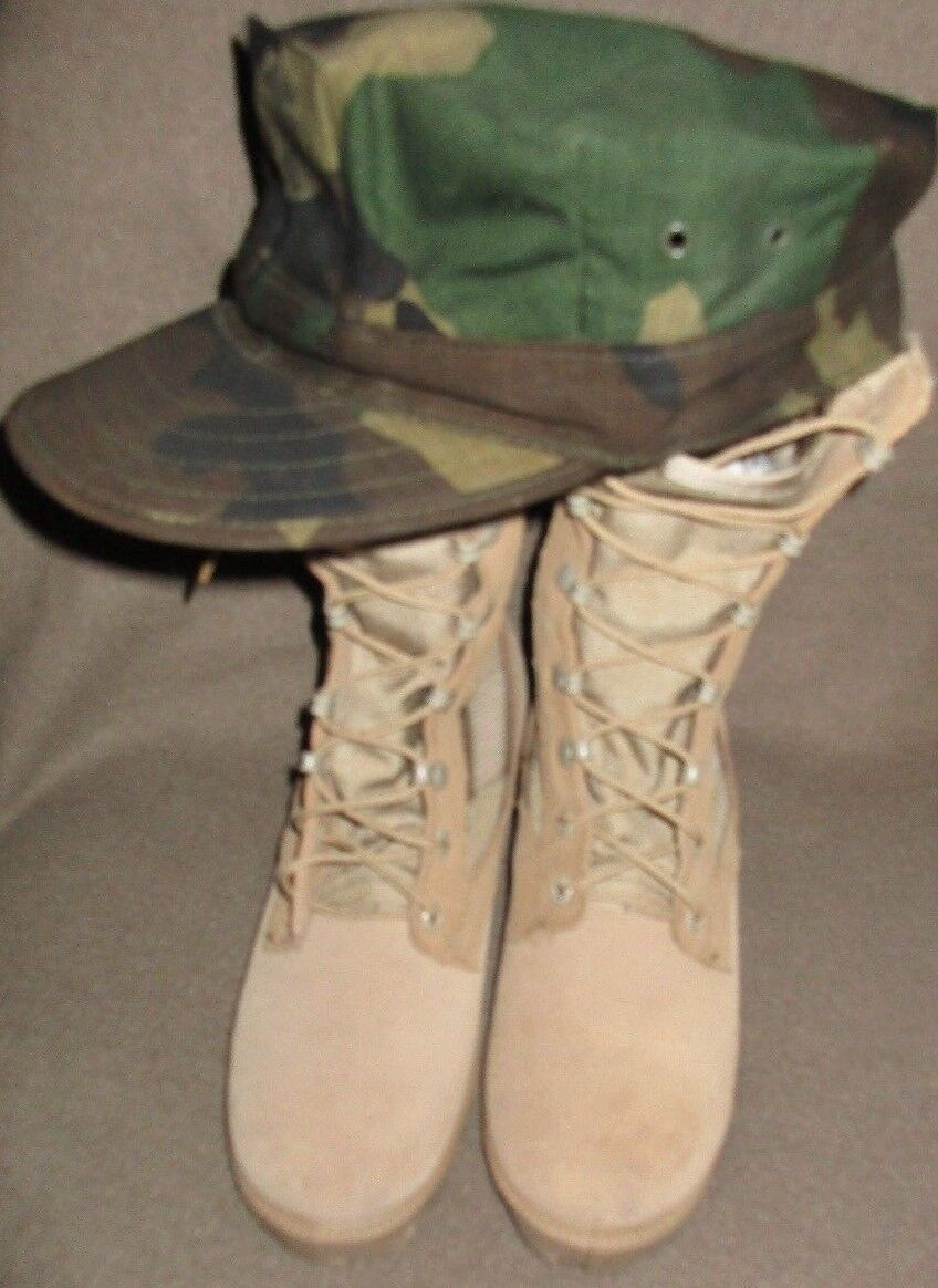 Military Issue Combat Stiefel Hot Weather Desert Tan 4.5 Damens NEU condition hat