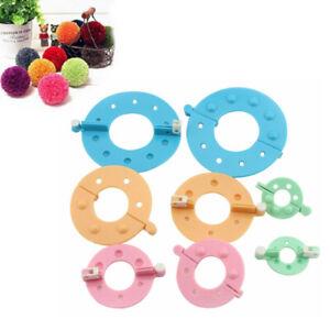 8-Stk-Pompon-Maker-Bommel-Macher-Set-Pom-Pom-Maker-Clover-Schablone