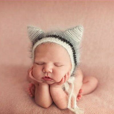 Newborn Baby Girls Boys Knit Crochet Hat Photo Photography Props Outfit New nice