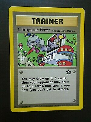 Computer Error - 16 Rocket/'s Secret Machine Pokemon Promo