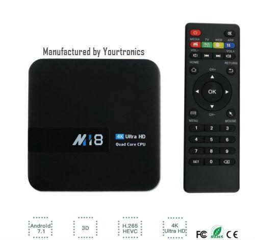 s-l1600 M18 Android 7.1 TV Box S905W Quad-Core 2G/8G 4K H.265 2.4GHz Wi-Fi 2GB 8GB