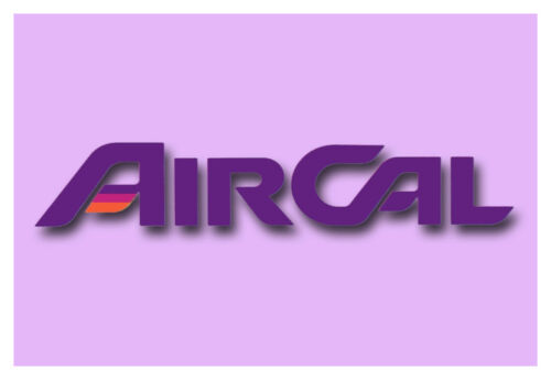 """AirCal Airlines Logo Fridge Magnet 3.25/""""x2.25/"""" Collectibles LM14100"""
