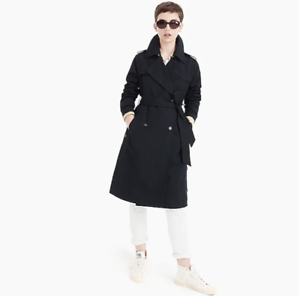$278 J.Crew Side-button trench coat-J4873//J4874-DEEP NAVY-0 4,8,10,12,8P,12P