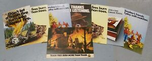 8-Rare-Smokey-the-Bear-Government-Dept-of-Agriculture-Posters-Memorabilia-Lot