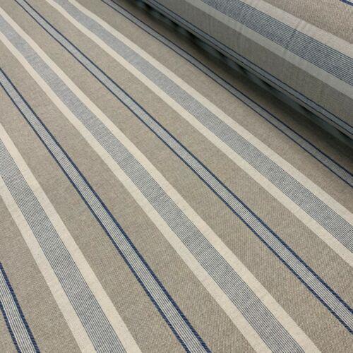 Double Width 280cm Wide London Stripe Blue