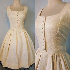1950s 50s 40s vintage designer Gay Gibson full skirt swing dress spiderweb S