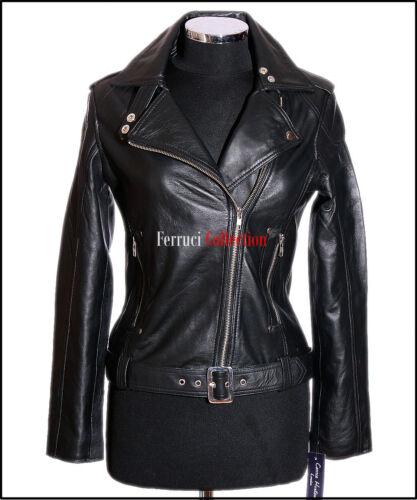 Rock Chic Rétro Noires Real Veste Sheep Style Dames Soft Femmes Katie Cuir qF6nOtCOw