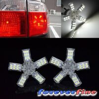2x 3157 Spider Lite 5-arm 40 Smd Led Front Turn Signal/parking Light Bulbs White
