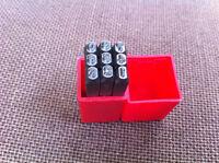 9pcs 1/8'' / 3mm Steel Number Stamps Punch Dies Set