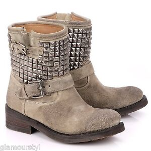 ASH,Bottines,TITAN,Cuir,daim,Clay,36,TBE