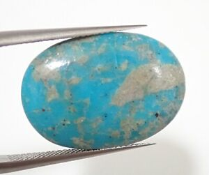17-05ct-20-8x14-4mm-Oval-Cabochon-Natural-Blue-Turquoise-Africa