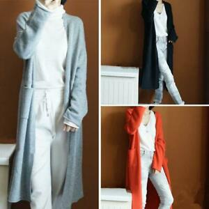 2019-Women-039-s-Cashmere-Cardigan-Long-Sweater-With-Pockets-Loose-Coat-S-XXL