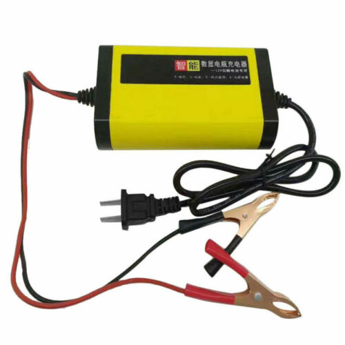 Cars Motorcycle Battery Charger 12V 2A Full Automatic 3Stages Lead Acid bhj