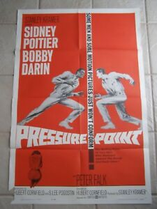 Vintage-Movie-Poster-1-sheet-Pressure-Point-1962-Sidney-Poitier-Bobby-Darin