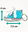 12 Schlüsselanhänger Schuhe 12 cm Bunt echter Schnürsenkel Canvas Chucks