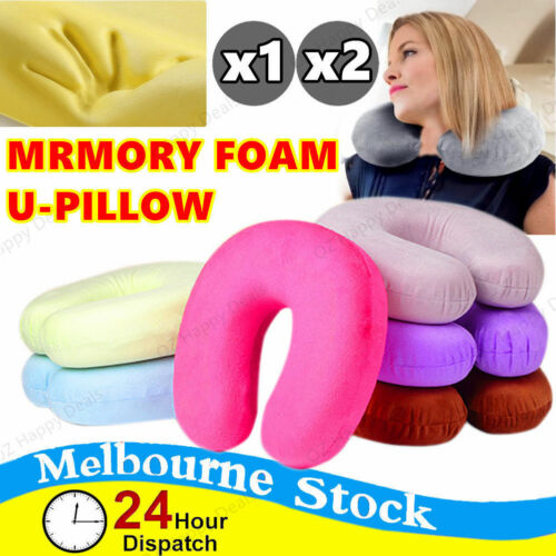Travel Neck ow Memory Foam Cushion Airplane Support U Shaped Washable