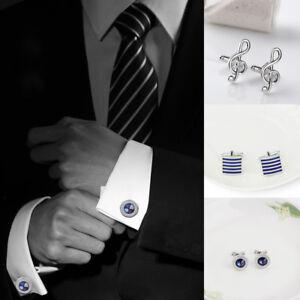 Men-Cufflinks-Tie-Claps-Formal-Suit-Shirt-Tie-Clip-Wedding-Business-Accessories