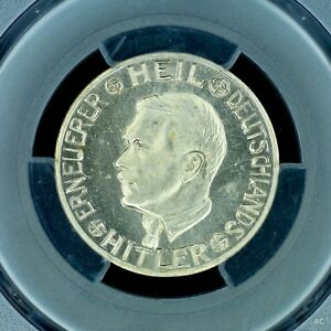 Token-Mark-1938-PCGS-MS64-Germany-Third-Reich-colbert-C-25-Rare-Top-Pop