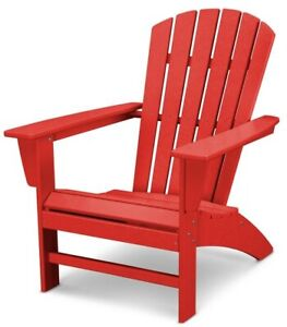 Surprising Details About Patio Adirondack Chair Curve Back Slate Polywood Outdoor W Uv Protection Red Pdpeps Interior Chair Design Pdpepsorg