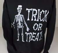 Vintage 97 Trick Or Treat Halloween Skeleton Top Hat Cane Tultex Sweater Xl