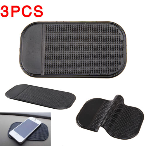 3 x Car Anti Non Slip Mat Pad Dashboard Mobile Phone GPS Sticky Holder Black UK