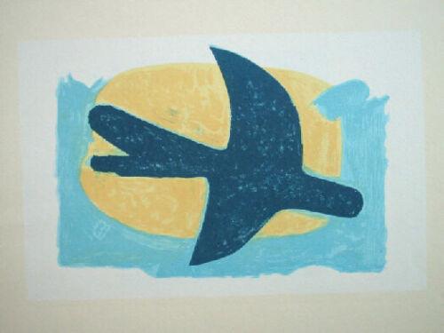 George Braque oiseau bleu et jaune