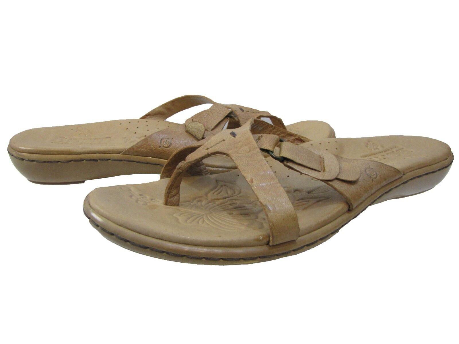 Born Toe Womens 2306 Slip-On Open Toe Born Casual Wedge Thong Fashion Sandals Shoes 29714b