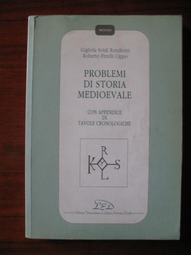 AA.VV. PROBLEMI DI STORIA MEDIOEVALE ED. LED 1992