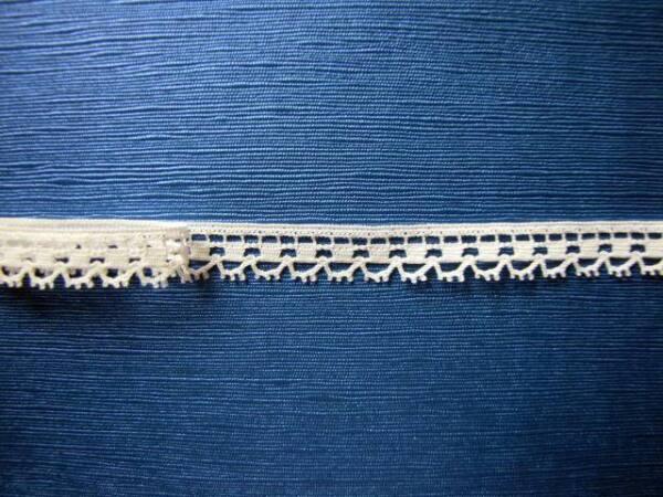 larg AU METRE blanc 28 mm DENTELLE du Puy ancienne réf 371//2