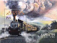 RSA SÜDAFRIKA SOUTH AFRICA 1999 Block 76 SAPDA 99 Dampflokomotive Locomotive MNH