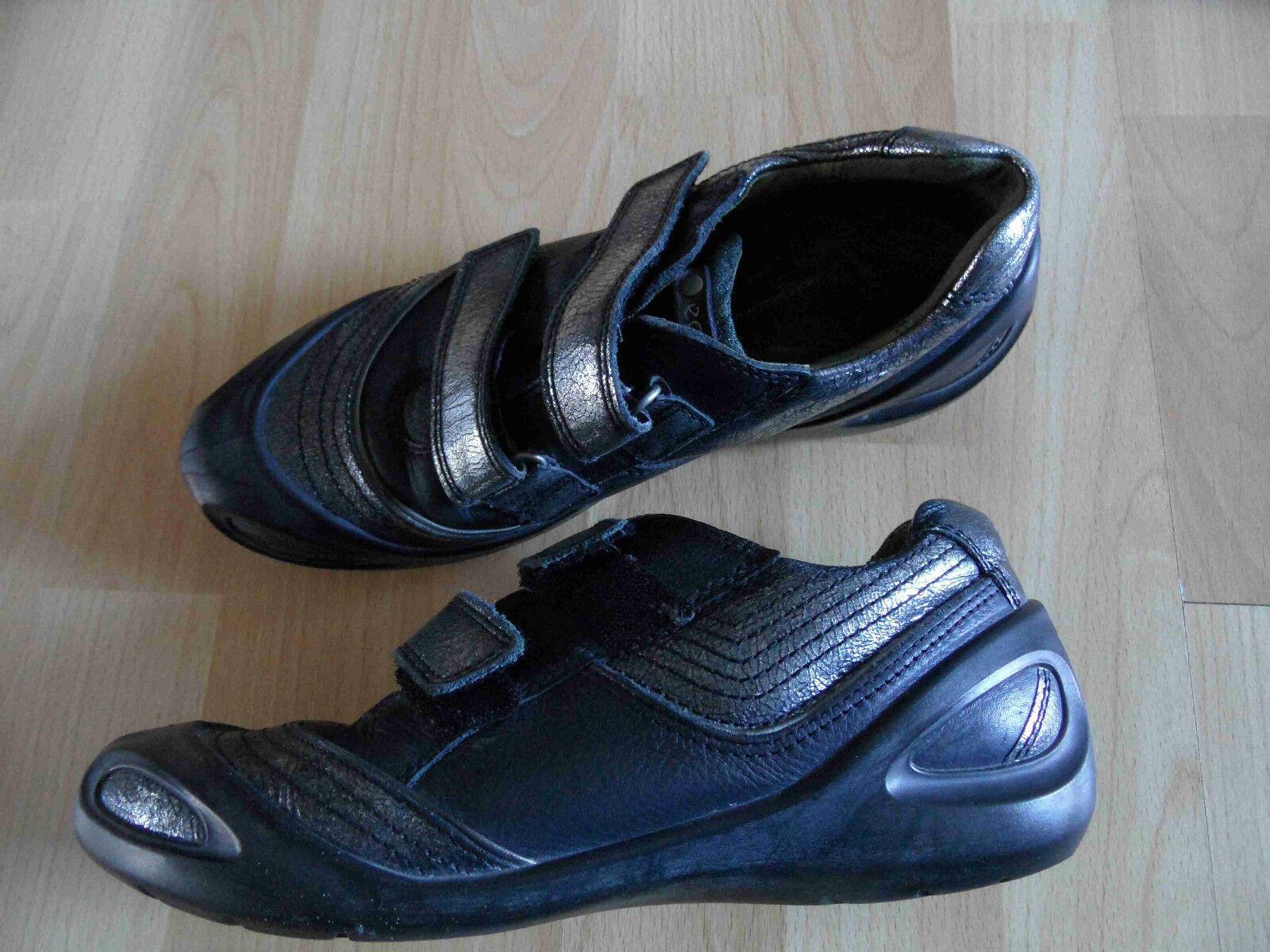 ECCO tolle Klett Sneakers grau silber Gr. 38 NEUw.  HMI115
