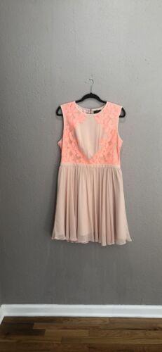 Ted Baker Blush  Vember Lace Trimmed Dress Size 12
