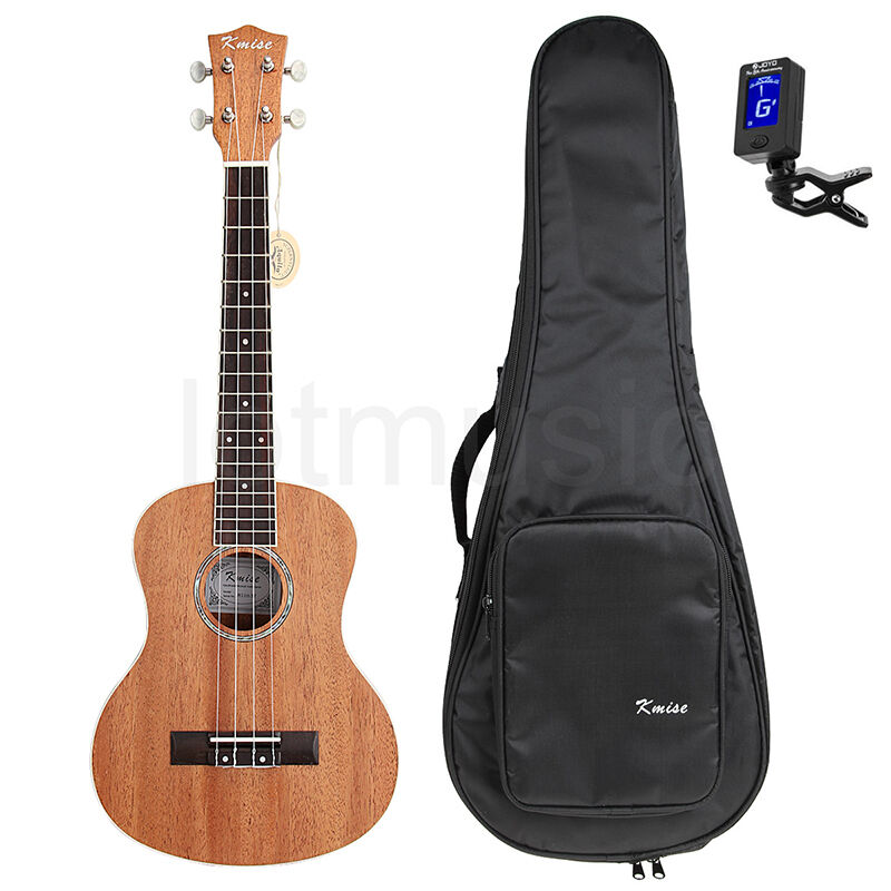 kmise 26 inch tenor ukulele uke hawaii guitar w bag and. Black Bedroom Furniture Sets. Home Design Ideas