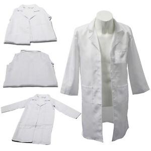 Kids Doctors Scientist White Lab Coat Girls Boys Fancy Dress Costume