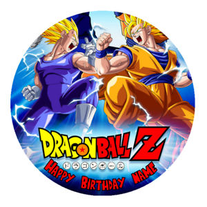 Dragon Ball Z Personalised Edible Birthday Party Cake Decoration