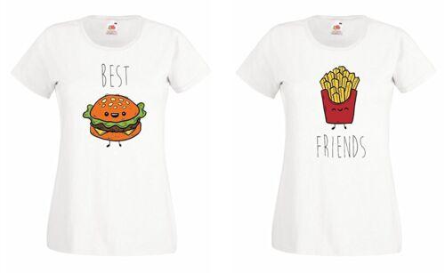 """TRVPPY BFF Best Friends T-Shirt SET /""""BURGER /& POMMES/"""" sister blondie brownie bae"""