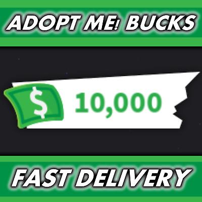 Roblox Adopt Me 10 000 Bucks Cash Money Dollars Read Description Ebay