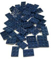 LEGO LOT OF 50 NEW DARK BLUE 2 X 3 DOT PLATES BUILDING BLOCKS PIECES