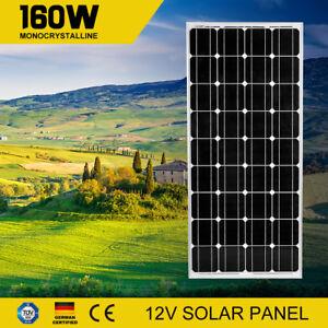 12V-160W-Mono-Solar-Panel-Kit-Generator-Caravan-Camping-Battery-Charger-160watt