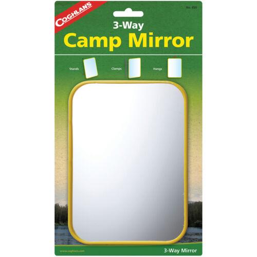 Coghlan/'s 3-Way camp de miroir Pinces Avec Crochet Signal survie Coloré en Plastique