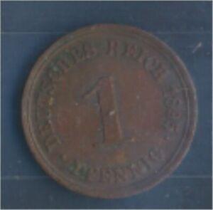 German-Empire-Jagerno-10-1895-e-very-fine-Bronze-1895-1-Pfennig-Eagle-7848988