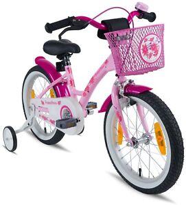 Prometheus Girl Vélo 16 Pouces Rose Rose Avec Roues De Formation Démission À partir de 5 ans